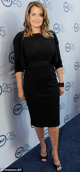 Pulling out all the stops: Former Sopranos (and current Rizzoli & Isles) star Lorraine Bracco looked chic in her dress ~ TNT 25th Anniversary Party
