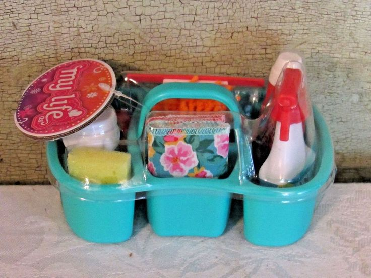 """My Life As Cleaning Play Set Soap Spray Bottle Caddy AG OG 18"""" Girl Doll NEW 