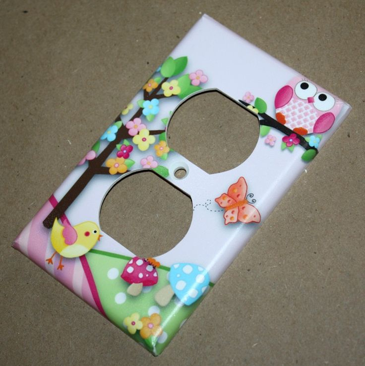 Owls Love Birdies Girls Bedroom Single Light Switch Cover. $7.00, via Etsy.