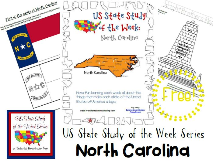 Come see Week 35 of the FREE US State Study of the Week Weekly Series and get your North Carolina themed Pack.