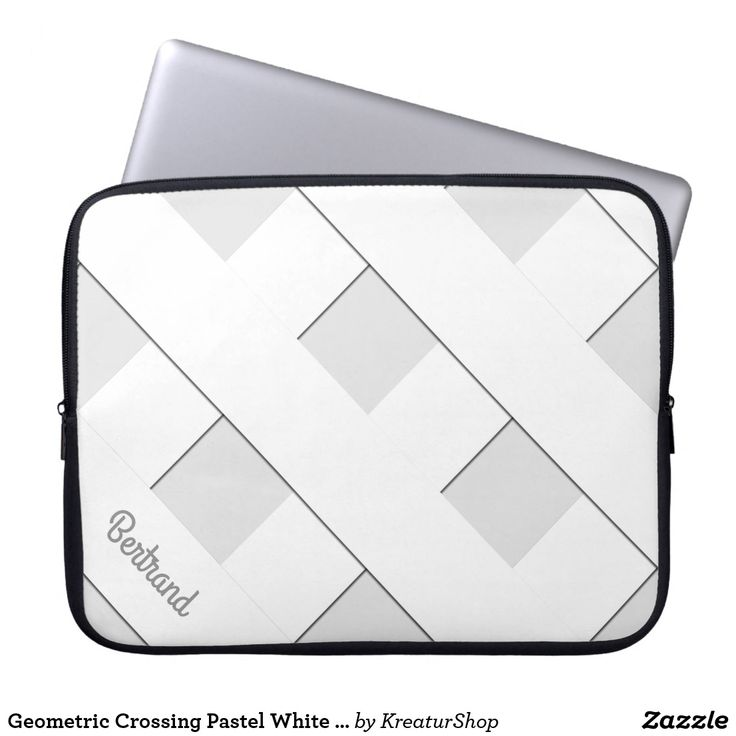 Geometric Crossing Pastel White Lines with Name Sleeve