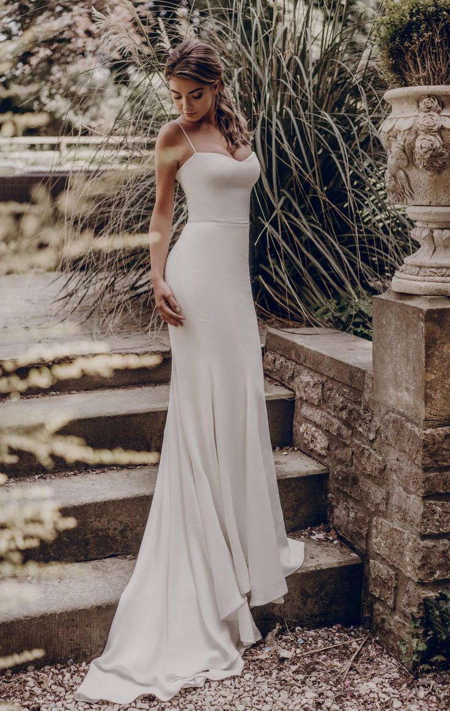 Simple And Plain Wedding Dresses   Brides Magazine #weddingdresses