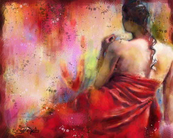 Seated nude  - Original Oil Painting - Figure Painting -- Large Size. $289.00 U