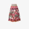 Dolce & Gabbana's Spring/Summer 2017 'Tropico Italiano' collection showcases holiday inspired motifs from Naples and the Italian design duo's native Sicily with signature motifs, such as this Mambo print, as seen on this pretty pleated skirt adding a colourful touch. Spun from crisp cotton, this Mambo print pleated skirt features an elasticated high waistband, a delightful rose print and a knee length and sports the Italian fashion house's iconic, rustic Carretto Siciliano (Sicilian cart)…