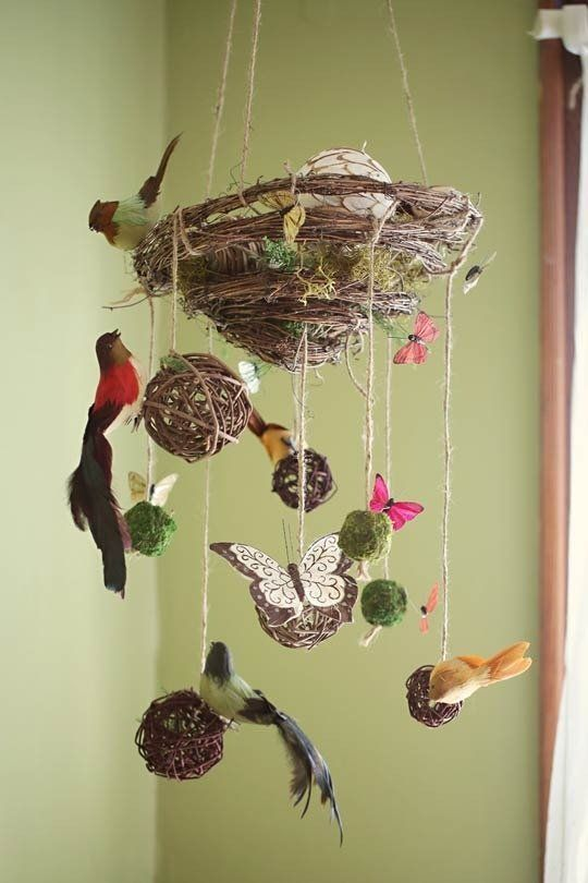 Best 20 nature themed nursery ideas on pinterest for Bird mobiles for nursery