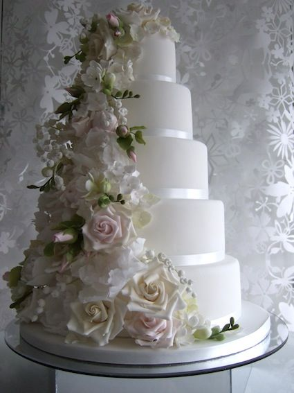 Bespoke wedding cake maker Makiko Searle specialises from beautiful handcrafted wedding cakes to unique individual novelty cakes.