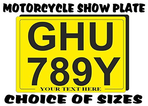 "REAR NUMBER PLATE for Motorcycle SHOW PLATES (not road use legal) with border and free bottom line / tag line text - choice of sizes 9 x 7 / 8 x 6 / 7 x 7 / 7 x 5 / 6 x 5 / 6 x 4 - for motorcycle motor cycle motorbike bike trike scooter moped quad or quadbike (6"" x 4"") #REAR #NUMBER #PLATE #Motorcycle #SHOW #PLATES #(not #road #legal) #with #border #free #bottom #line #text #choice #sizes #motorcycle #motor #cycle #motorbike #bike #trike #scooter #moped #quad #quadbike"