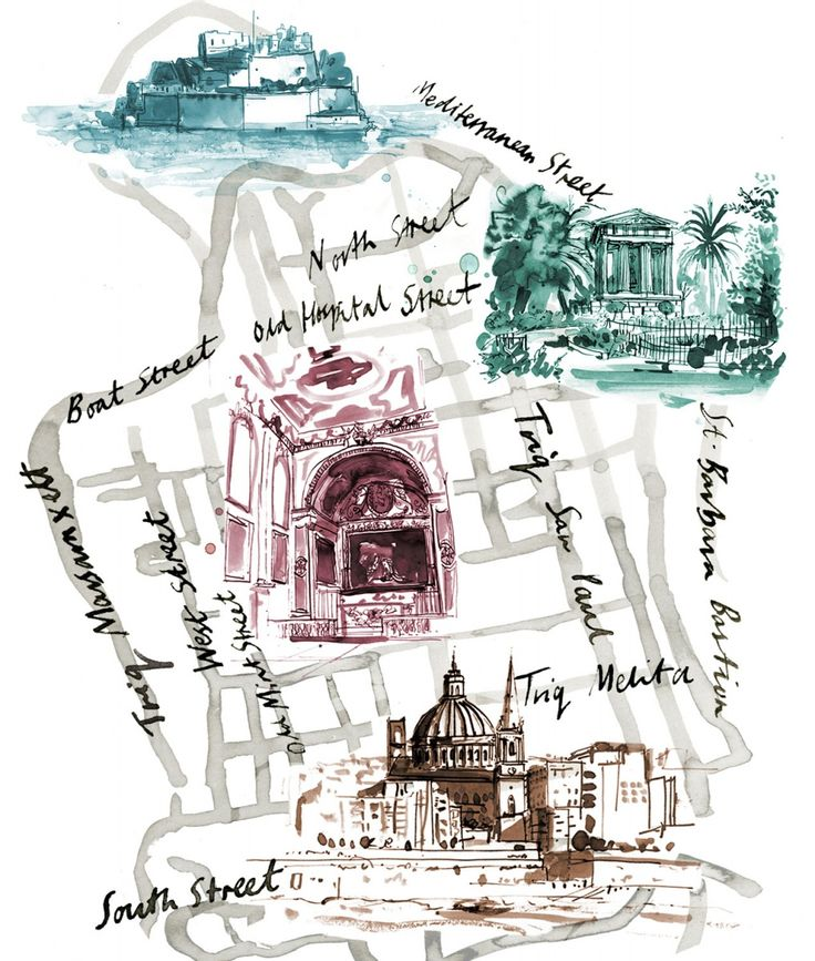 Sarah Maycock map of Valletta Malta (With images