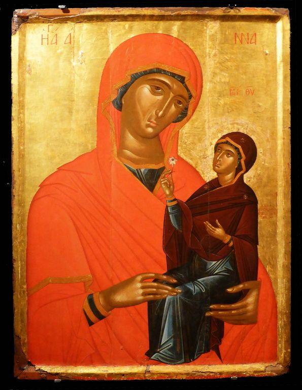 Τζάνες Εμμανουήλ-Η Αγία Άννα με την Παναγία, 1637.jpg (595×768)