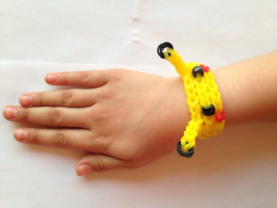 Rainbow Loom Pokemon Picachu by StarStuffCrafts on Etsy