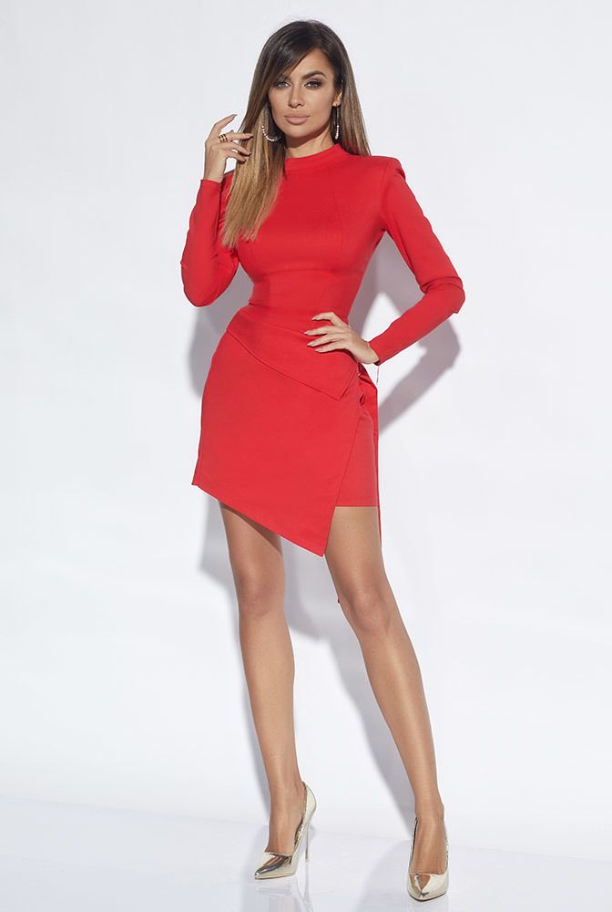 Melanie Czerwona Sukienka Z Baskinka Fashion Dream Dress Dresses