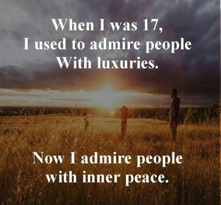 Inner peace it's what is all about. Money isn't everything, but it does help knowing you don't have to stress about basic shit that allows you to focus on the more important things in life.  Yourself, your family, your kids, your loved ones.