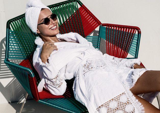 Weiteres - Bademantel, Morgenmantel mit einer Kosmetiktasc - ein Designerstück von Shelest-boutique bei DaWanda