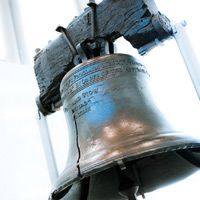 """The Liberty Bell in Historic Philadelphia, """"Proclaim Liberty throughout all the Land unto all the Inhabitants thereof."""""""