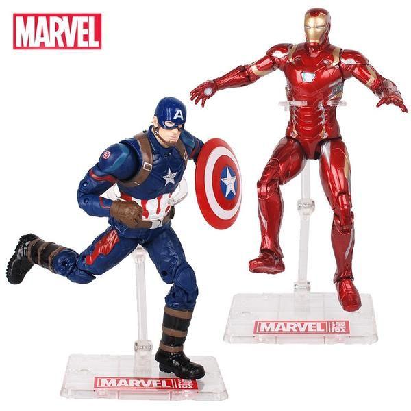 Железный человек Мстители альянс Капитан Америка Бэтмен Халк сборка модели игрушки