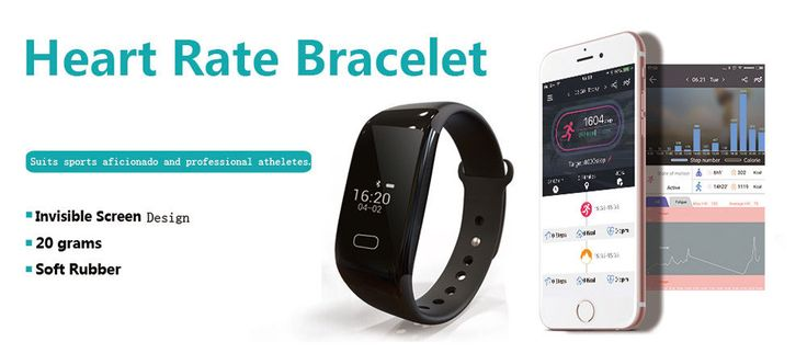 K18 Bluetooth Real-Time Heart Rate Monitor Smart OLED Wristband Sports Bracelet