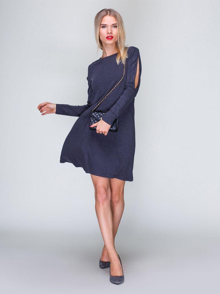 Платье темно-серое - MarieM - 2732512