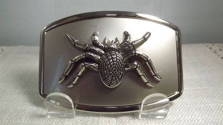 Spider Belt Buckle, Vintage Arachnida of the Metal Kind Novelty Buckle of the Oddity Persuasion! by OutrageousVintagious on Etsy
