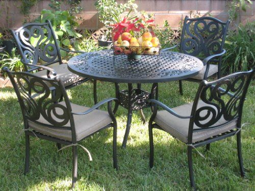 CBM Outdoor Cast Aluminum Patio Furniture 5 Pc Dining Set E CBM1290 Review