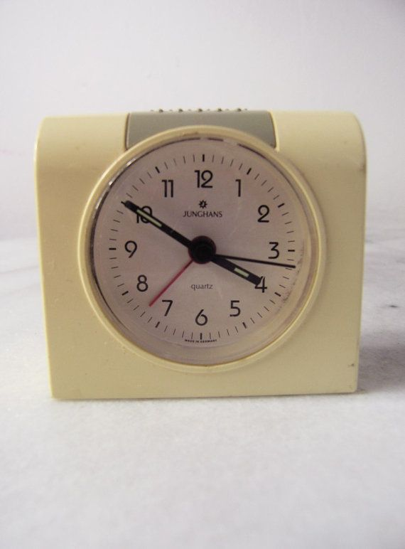 1980s Junghans Battery Alarm Clock Vintage Alarm By RetroBerlin