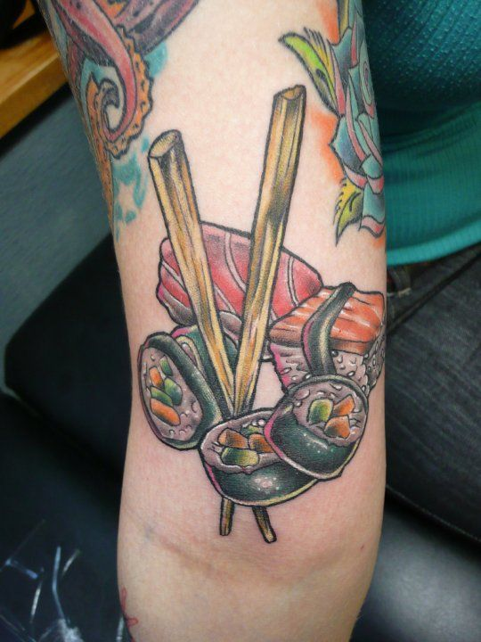 ... tattoo (when it was brand new) done by Chris De Leon at Flaming Heart