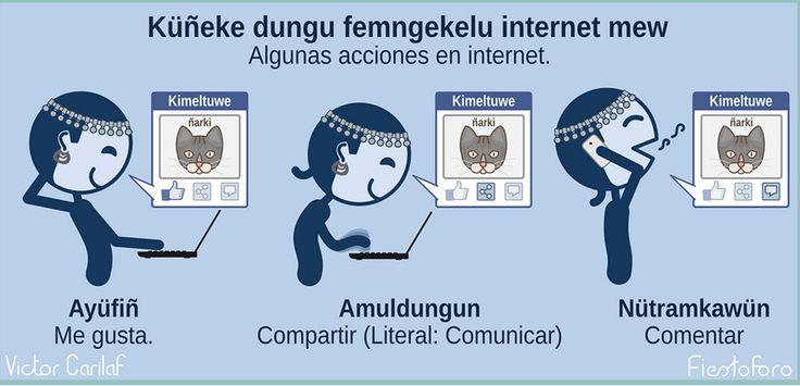 Küñeke dungu femngekelu internet mew / Algunas acciones que se hacen en internet.