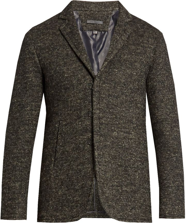 JOHN VARVATOS Single-breasted wool and linen-blend jacket