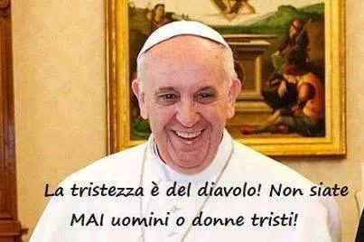 Tristezza - Papa Francesco