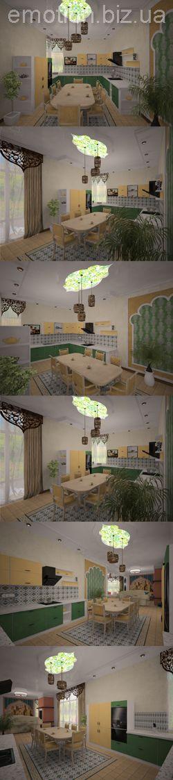 Кухня в восточном стиле. Интерьер кухни в частном доме.