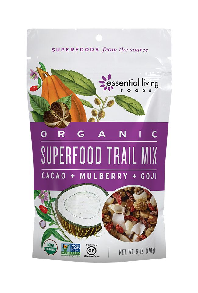 Crunchy, chewy, sweet, and satisfying, this organic blend of luscious superfruits and nourishing nuts delivers a sustainable burst of energy and stomach-satisfying protein and fiber.  Thrill your tastebuds with succulent figs, tart goji berries and sweet coconut. Creamy cashews and hearty brazil nuts round out the symphony of flavors, and RAW cacao nibs add an antioxidant-rich energy kick. No sugar or preservatives added: just naturally delicious!