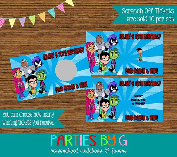 Teen Titans Go Robin Scratch Off Tickets Cards By -1758