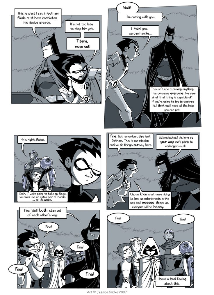 from Joziah teen titans and batman