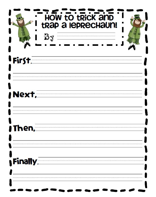 St. Patrick's Day writing activity, good for sequencing