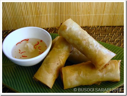 LUMPIANG TOGUE (Beansprout Spring Rolls) - my all time favorite lumpia.