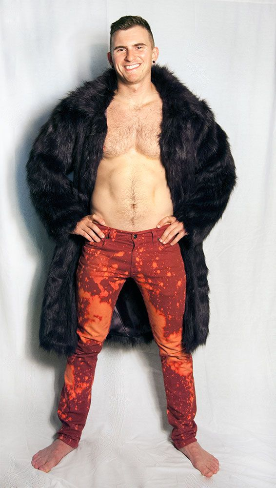 Faux Fur Burning Man Coat by FestivalTradingCo on Etsy