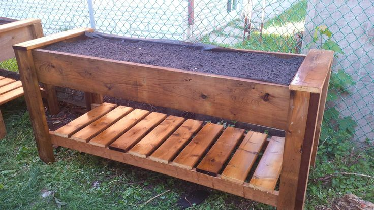 Raised Box planter # 1 made from Sienna pressure treated wood.