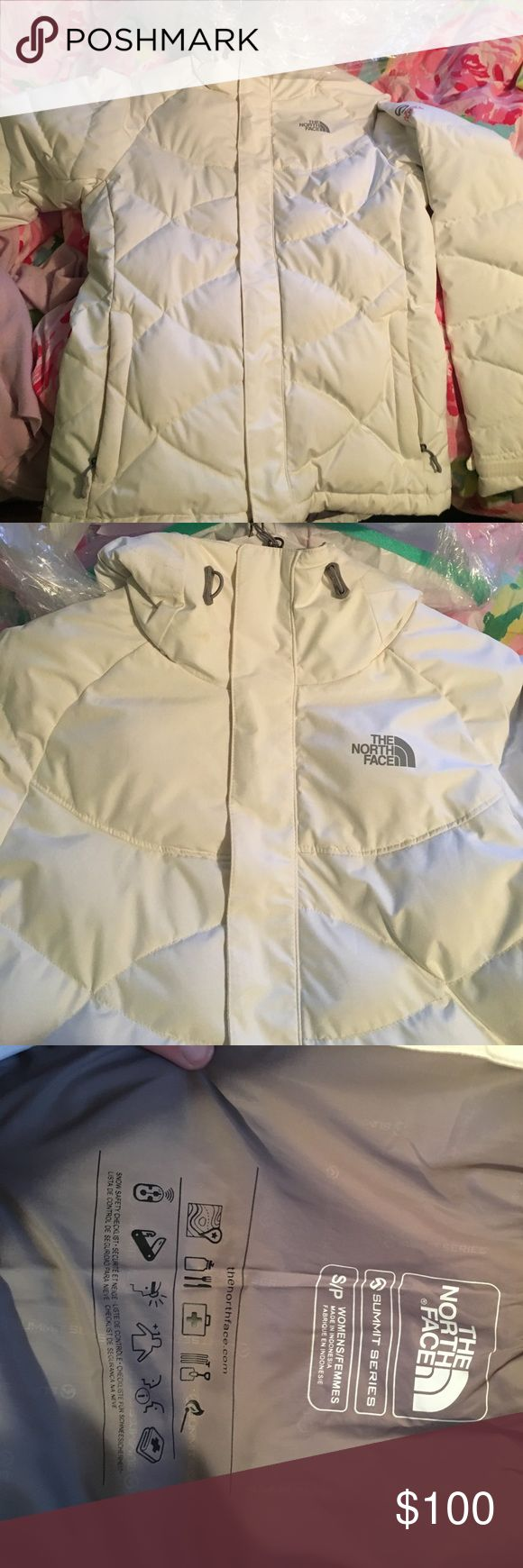 North face winter jacket White puffer jacket. North face summit series- very warm, very athletic aesthetic The North Face Jackets & Coats Puffers