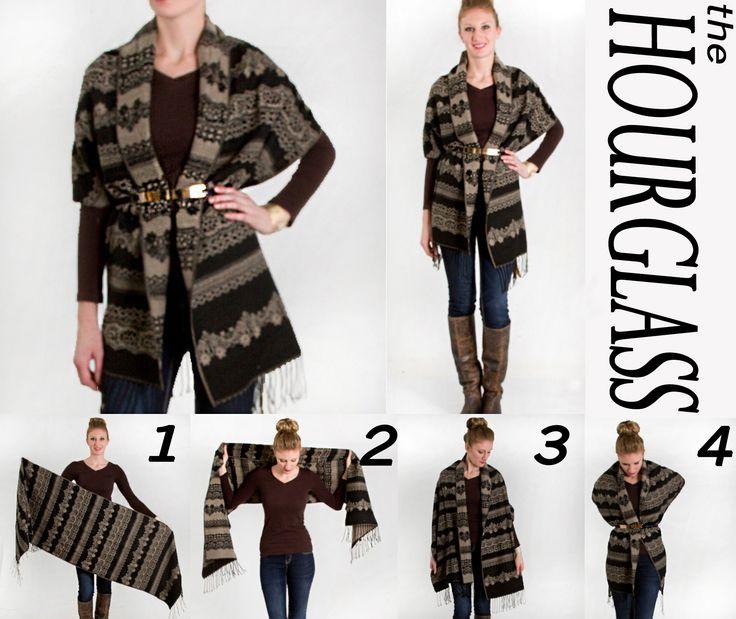 The Reversible Nordic Print Wool Scarf