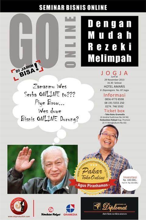 "Seminar Bisnis Online "" GO ONLINE "" 26 November 2013 Hotel Amaris Jogjakarta"