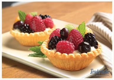 Custard and Fruit Tarts from www.Tenderflake.com