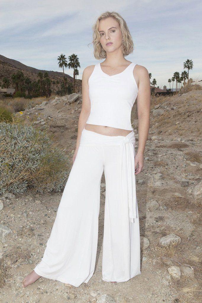 de7d9e84d8 Women's Yoga Parvati Pants Long | Women's Organic White Cotton Kundalini  Yoga Clothing, Sustainable Made in the USA ~ Luminous Being | Pants, Yoga,  ...