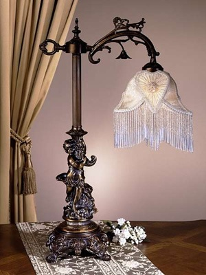 Love Victorian lamps! This would look better as a floor lamp in green.