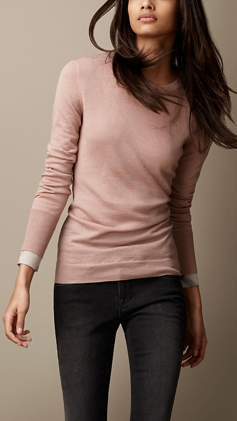 Burberry Brit Merino Wool Sweater. (something like it...) just looks cozy. and love the blush color.