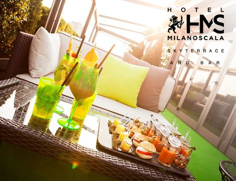 Aperitif time @Sky Terrace Bar Milano Scala   #aperitif #Milan #Italy #fingerfood #green #glocal #ecohotel