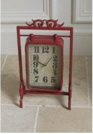 vintage industrial retro bohemian red mantal clock by Wanderlusthome1 on Etsy https://www.etsy.com/listing/245053319/vintage-industrial-retro-bohemian-red