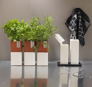 Stylish self-watering herb pots from Cult Design