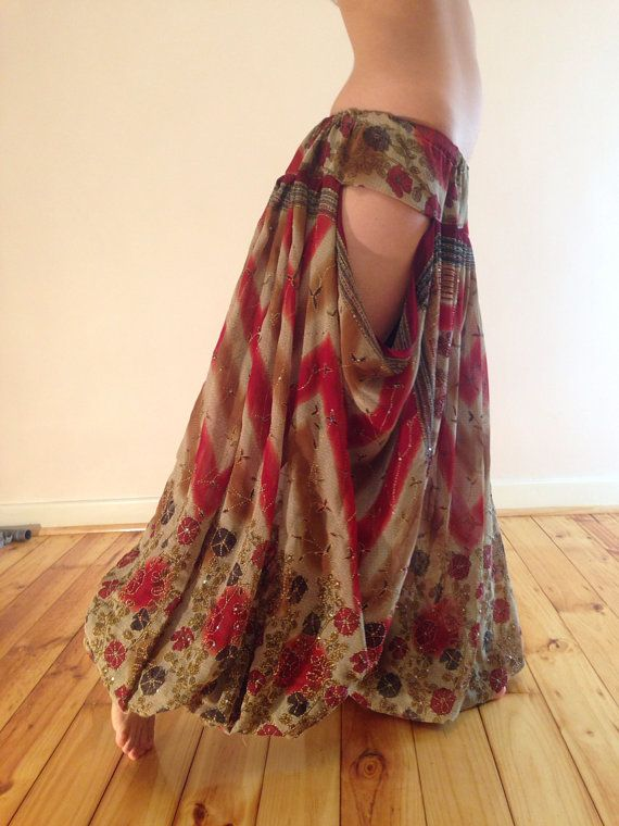 Vintage Silk cutout pantaloons for tribal or tribal fusion Bellydance