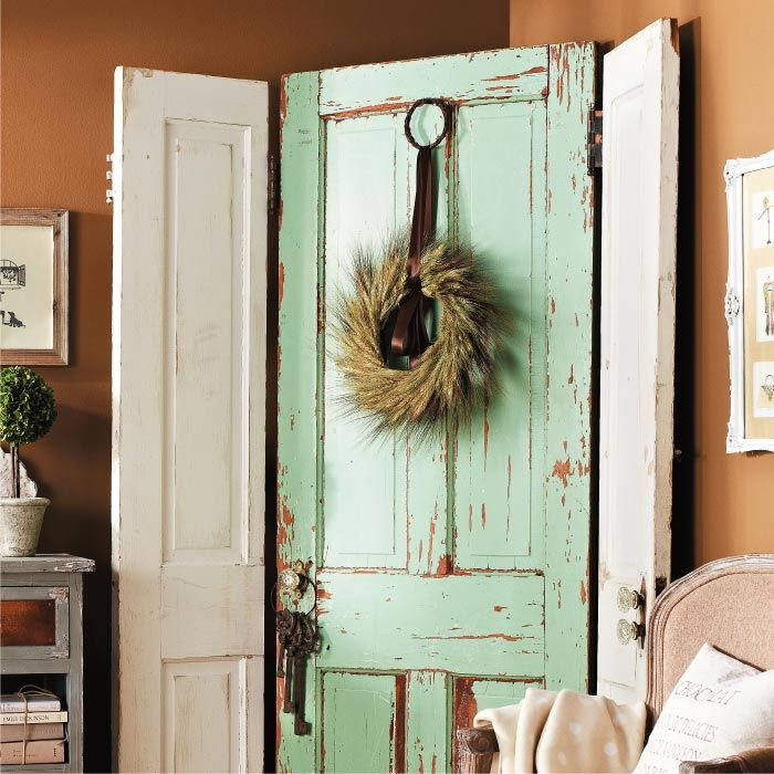 Make a Screen with Salvaged Doors, I would love to do this....I can make a beachy one for my bedroom! just need an old door