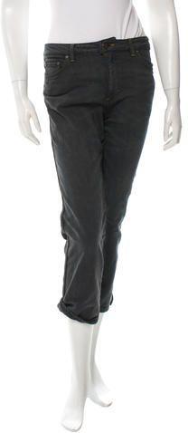 Acne Straight-Leg Mid-Rise Jeans