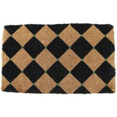 Entryways Black Diamonds Extra Thick Hand Woven Coir Doormat, 18 By 30 Inch  By
